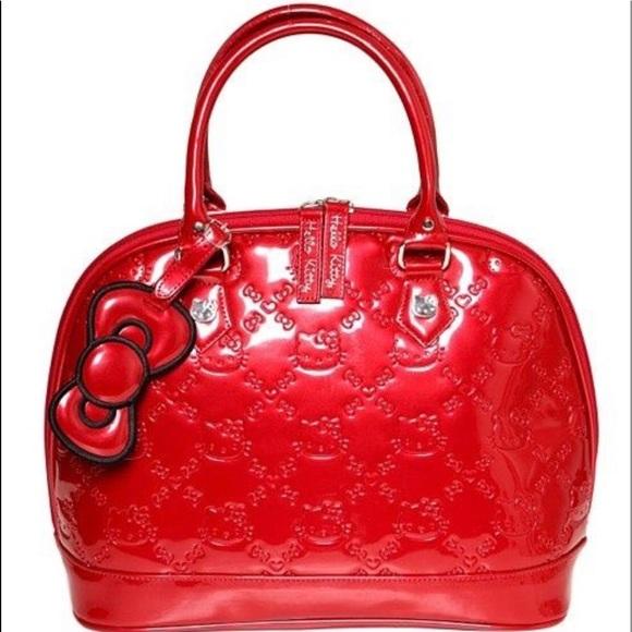 Hello Kitty Handbags - Red loungefly hello kitty purse